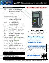 GPR-1100 Portable Trace PPM Oxygen Analyzer.