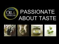 PASSIONATE ABOUT TASTE