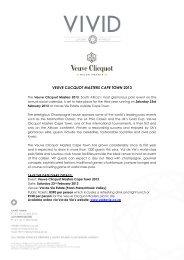 VEUVE CLICQUOT MASTERS CAPE TOWN 2013 - Val de Vie