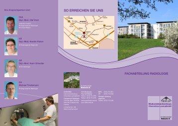 Fachabteilung Radiologie - Diakoniekrankenhaus Chemnitzer Land