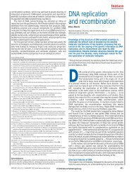 Alberts, B. DNA replication and recombination. Nature 421