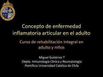 Concepto de enfermedad inflamatoria articular en el adulto