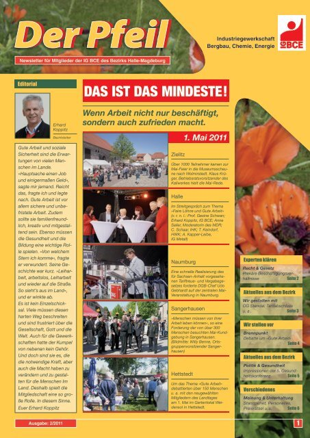 Debatte um »Gute Arbeit - IG BCE - HALLE-MAGDEBURG