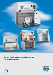 Weiss GWE safety workbenches for laboratories
