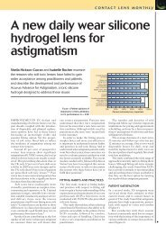 A new daily wear silicone hydrogel  lens for astigmatism