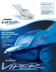 Hayward Viper™ High Performance Cleaner - Model 5500 - Owner's ...