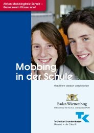 Elterninformation Mobbing in der Schule