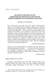 500 TAHUN YOHANES CALVIN: PENGETAHUAN TENTANG ...