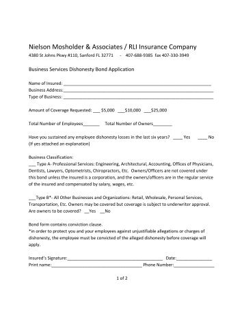 Instructions To Complete The Surety Bond Form - FPL.com