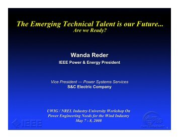Wanda Reder Slides - Utility Variable Generation Integration Group