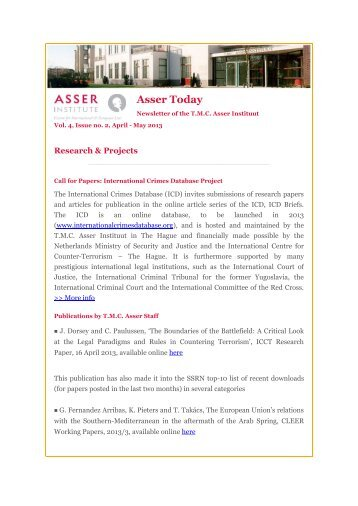 Asser Today - Asser Institute