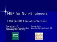 MEP for Non-Engineers - Texas Association of School Business ...