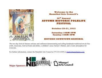 AUTUMN HISTORIC FOLKLIFE FESTIVAL ... - Hannibal Arts Council
