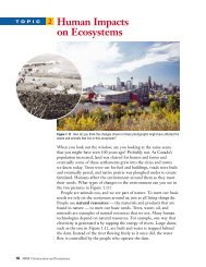 Topic 2 Human Impacts on Ecosystems - McGraw-Hill Ryerson