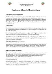 Reglement Honigprüfung - Liechtensteiner Imkerverein