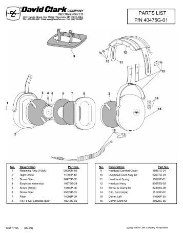 David Clark Headset Wiring Schematic David Clark