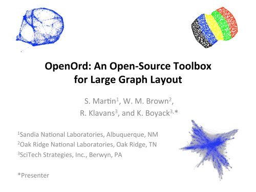 OpenOrd: An Open-†Source Toolbox for Large Graph Layout