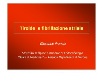 FRANCIA 1 fibrillazione atriale e tiroide - Cuorediverona.it