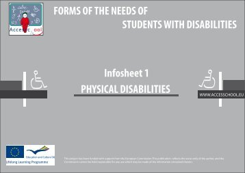 PHYSICAL DISABILITIES FORMS OF THE NEEDS OF ... - Anlh.be