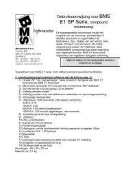 BMS 11 REIHE STEREOMIKROSKOPE