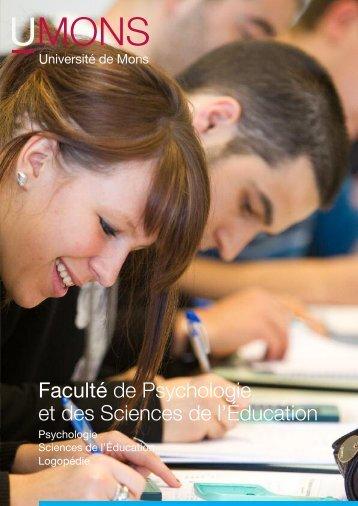 Faculté de Psychologie et des Sciences de l - Université de Mons