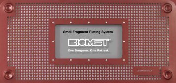 A.L.P.S. Small Fragment Plating System - BMET0031.0 - Biomet