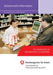 Arbeitsmarkt-Information - Pharmazie