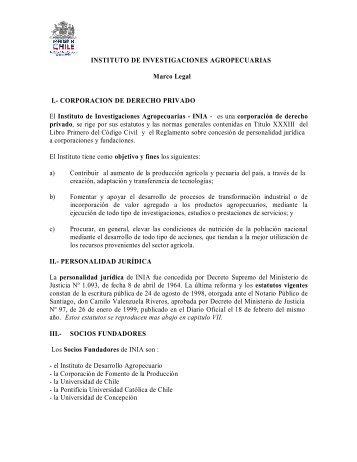 INSTITUTO DE INVESTIGACIONES AGROPECUARIAS ... - INIA