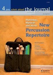 New Percussion Repertoire - Schott Music