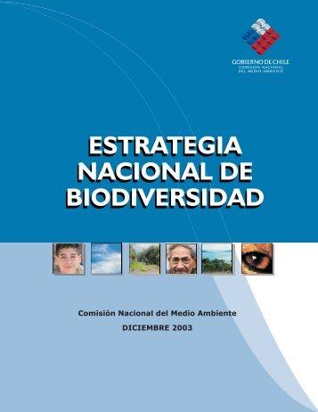 ESTRATEGIA NACIONAL DE BIODIVERSIDAD ... - Conaf