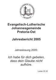 Evangelisch-Lutherische Johannesgemeinde Pretoria-Ost ...