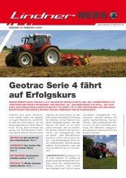 geotrac serie 4 fährt auf erfolgskurs - Lindner Traktoren