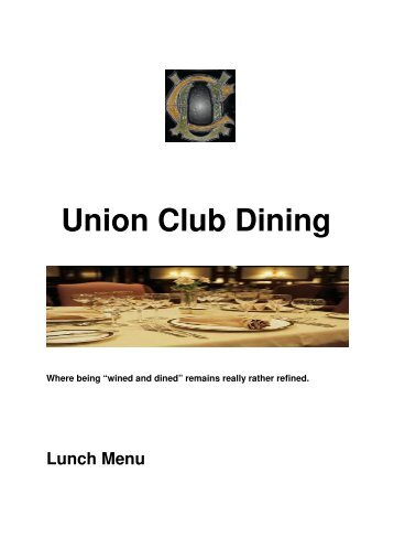 Union Club Dining