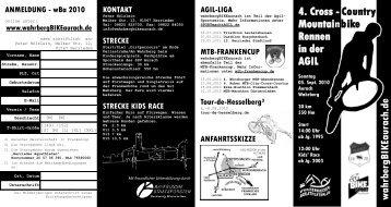 4. Cross - Country Mountainbike Rennen in der ... - AGIL macht Sport