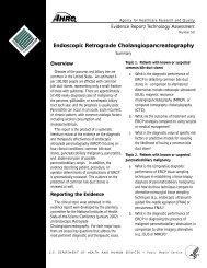 Endoscopic Retrograde Cholangiopancreatography - AHRQ Archive ...