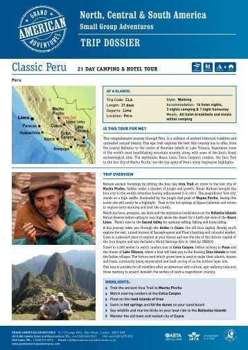 to download pdf trip dossier - Adventure Holidays
