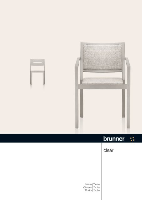 Stühle Tische Chaises Tables Chairs Tables Brunner Group