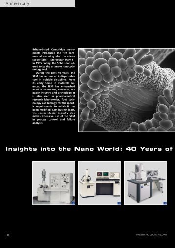 Insights into the Nano World: 40 Years of
