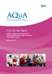 AQuA's First Do No Harm response - Advancing Quality Alliance