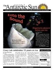 Organisms Abound Below Sea ice - The Antarctic Sun - United ...