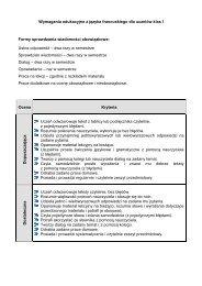 Wymagania edukacyjne z języka francuskiego dla uczniów klas I ...