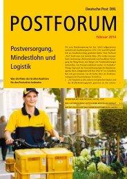 Postversorgung, Mindestlohn und Logistik - Deutsche Post DHL