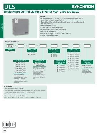 single phase central lighting inverter 400 2100 va watts dls?quality=85 ac emergency power single three phase interruptible dual lite dual lite inverter wiring diagram at soozxer.org