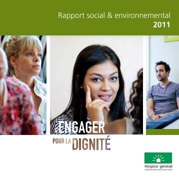 Rapport social & environnemental 2011 - Hospice général