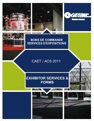 bons de commande services d'expositions - The Canadian ...