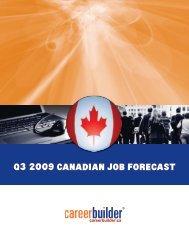 Q3 2009CANADIAN JOB FORECAST - Icbdr
