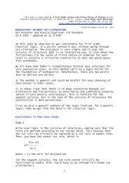 CONSISTENCY WITHOUT CUT ELIMINATION Kai Brünnler and ...