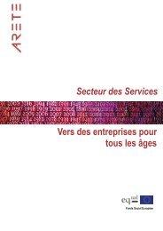 Secteur des service : vers des entreprises pour tous les âges - ARETE