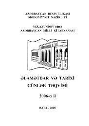 Əlamətdar və tarixi günlər təqvimi (2006-cı il) - Azərbaycan Milli ...