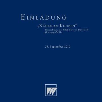 EINLADUNG - Dr. Wieselhuber & Partner Gmbh ...